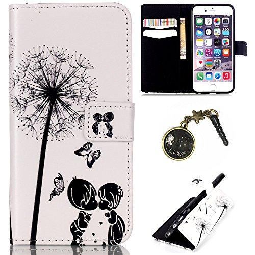 PU Cuir Coque Strass Case Etui Coque étui de portefeuille protection Coque Case Cas Cuir Swag Pour Apple iPhone 6/ iPhone 6S (4.7 pouces)+Bouchons de poussière (Y7) 7