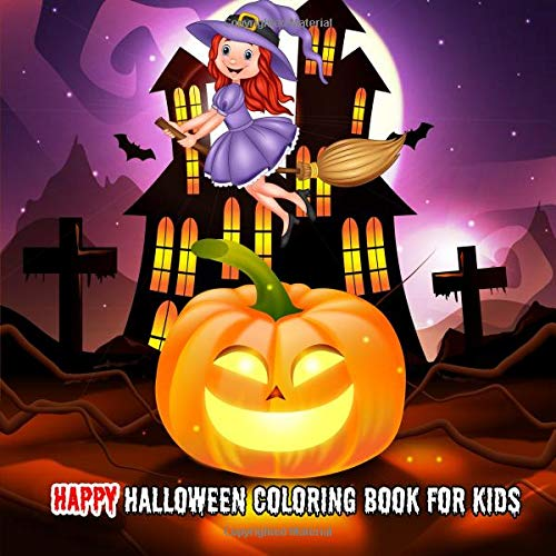 ring Book For Kids: Stress Relief Coloring Book, Halloween Drawings! ()
