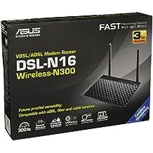 Asus DSL-N16 Modem Router Wi-Fi N300 VDSL2 / ADSL2+ / Fibra, 4 SSID, 3 Reti Guest, Server VPN