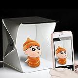 RC Foldable Lightbox Estudio, Kwock Potable Fotografía Shooting Tent con Telón de Fondo Para Smartphone o DSLR (22.6cm * 23cm * 24cm)