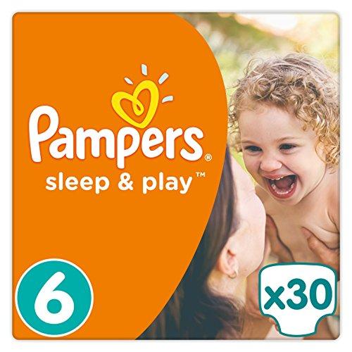 Pampers Sleep & Play Windeln, Gr. 6 (ab 15 kg), Einfach trocken, 1er Pack (1 x 30 Stück)