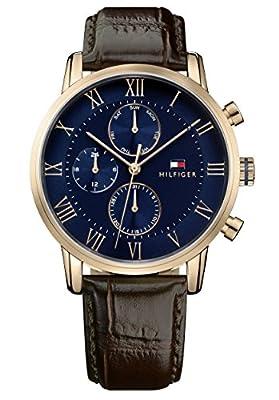 Tommy Hilfiger Reloj Multiesfera para Hombre de Cuarzo con Correa en Cuero 1791399