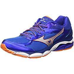 Mizuno Wave Ultima 8 - Chaussures de Running Compétition - Homme - Bleu (Skydiver/Silver/Clownfish) - 40.5 EU (7 UK)