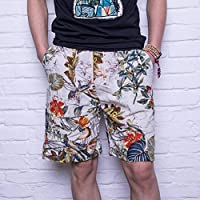 Pantalones Cortos de Playa, Pantalones Cortos de Surf Hawaianos Ocasionales, Pantalones Cortos de Verano para Hombres, Good dress, do, 2XL(70-85kg)