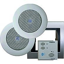 Sonelco PK2293-12 - Sistema de sonido con mando amplificador con dos altavoces