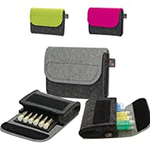 ebos Homeopatía botiquín de bolsillo, botiquín de viaje, bolsa para glóbulos de fieltro gris/gris claro con 6 trabillas