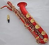 FidgetGear - Sassofono baritono professionale Red Dragon, con custodia