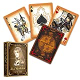 Alice im Wunderland Kartenspiel, Gold Edition, Alice of Wonderland Pokerdeck + 3 ''Look & Feel''-Karten , Spielkarten, Pokerkarten, Playing Cards