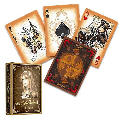Alice im Wunderland Kartenspiel, GOLD EDITION, Alice of Wonderland Pokerdeck, Spielkarten, Pokerkarten, Playing (Jack Karte Der Kostüm Herzen)