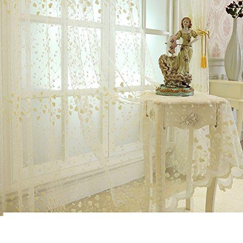 Tenda voile,proiezioni di finestra,tende di pizzo,garza bianca tende ricamate,per camera da letto soggiorno schermi continentale balcone,tenda readymade,set di pannelli 1-a 300x260cm(118x102inch)