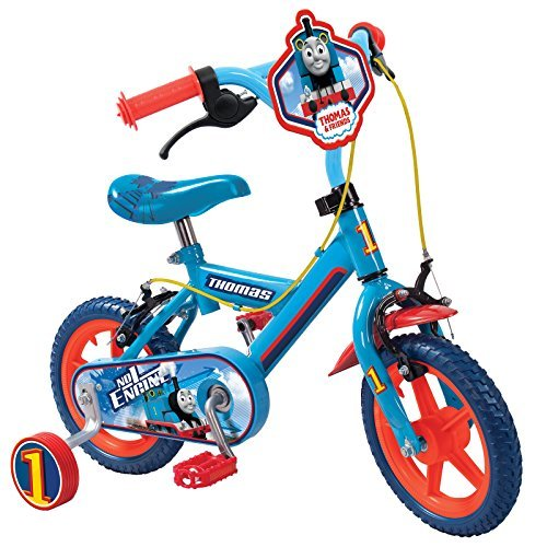 """Childs Official Thomas And Friends Kids 12"""" Bicycle Stabilisers No1 Engine Bike"""