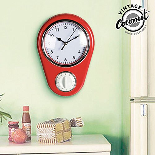 Reloj de Pared Cuentaminutos Vintage Coconut