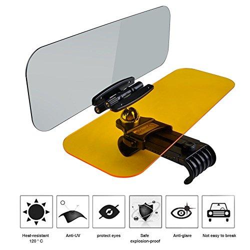 Auto Blendschutz Sonnenblende Acryl tag & nacht 2in 1 HD 360Grad Drehbar UV-Schutz blendfrei