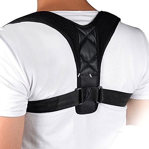 Correcteur de Posture, Bande Redresse Dos Réglable Posture Correcteur Epaule Support Dos Ceinture Dorsale Soutien Maintien Correction Clavicule VOOA