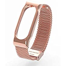 Gosuper Milanese Stainless Steel Watch Band Strap for Xiaomi Mi Band 2