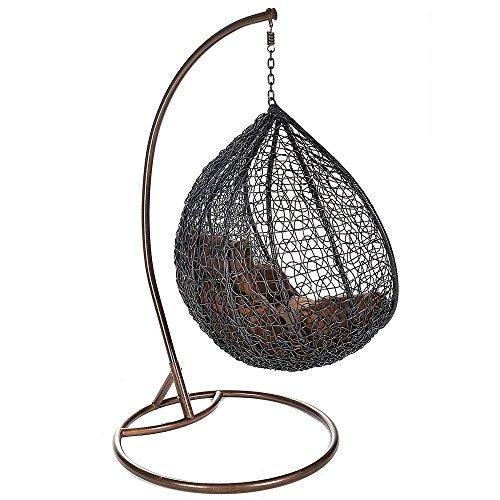 Home Deluxe Polyrattan Hängesessel Cocoon, inkl. Gestell, Sitz- und Rückenkissen - 4