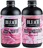 Bleach London, shampoo rosa x 250ml e balsamo rosa Bleach London x 250ml (2 pezzi)