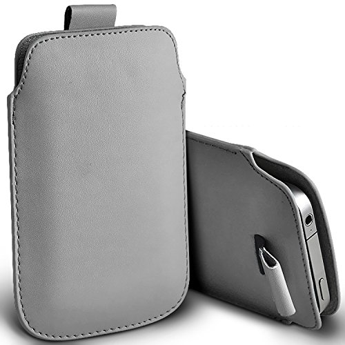 ( Grey ) Apple iPhone 5c Protection simili cuir Pull Tab armoires Pochettes élégant Housse Etui En Fone-Case Tirette Gris