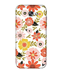 PrintVisa Designer Back Case Cover for SAMSUNG GALAXY A5 (2017) (creative abstract floral design awesome )