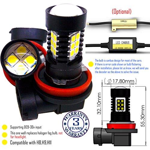 Preisvergleich Produktbild Wiseshine H9 LED-Nebelscheinwerfer lampen DC9-30v 3 Jahre Qualitätssicherung (2 Stück) H9 22smd 3030 Grün
