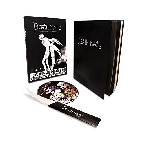 Il Nuovo Mondo Death Note - Notebook Notizbuch von Death + Feather + CD Japanische Anime Musik Tribute