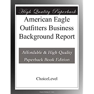 American Eagle Outfitters Business Background Report