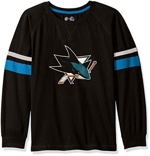 Profile Big & Tall NHL San Jose Sharks Unisex Pullover Kapuze mit Print, schwarz, 5X