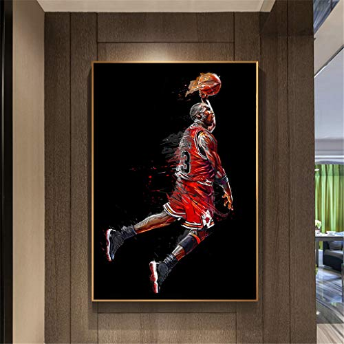 XXW Abstract Art Painting Michael Jordan Poster Fly