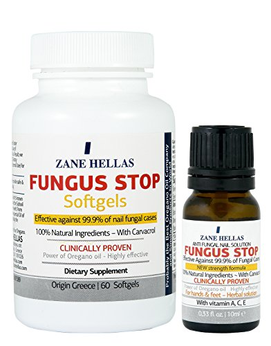 Fungus Stop COMPLETE Solution Nail KIT - Fungus Stop 10ml Solution Nail + Fungus Stop Softgels, 60 Softgels