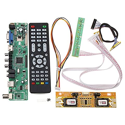 Bluelover V56 Universal TV LCD Driver Board PC/VGA/HDMI/USB Interface + 4 Lamp Inverter + 30pin 2ch-8bit Lvds