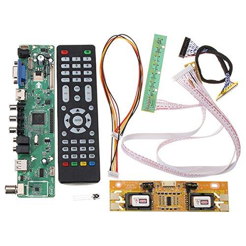 Bluelover V56 Universal Fernsehapparat LCD Fahrer-Brett Pc/Vga/Hdmi/USB Schnittstelle + 4 Lampen-Inverter + 30Pin 2Ch-8Bit Lvds Kabel