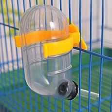 Sage Square Vacuum Leak Proof Water Bottle For Hamster/Dwarf/Gerbil/Mice/Guinea Pig/Ferret/Rabbit (Yellow) - 60Ml