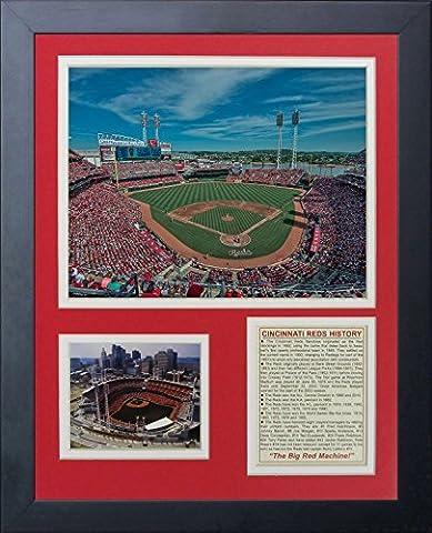 Legends Never Die Cincinnati Reds Great American Ballpark Framed Photo Collage, 11 x 14-Inch by Legends Never Die