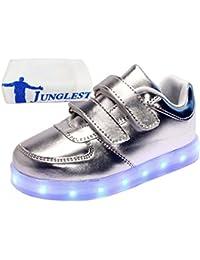 (Presente:pequeña toalla)Negro EU 28, zapatos luminoso JUNGLEST® parpadeante Niños corrientes los Light zapatillas LED de con Up Unisex carga
