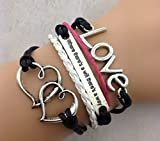 Leder Armband Wickelarmband Vintage Freundschaft Lederarmband Infinity Love NEU (Modell 7)
