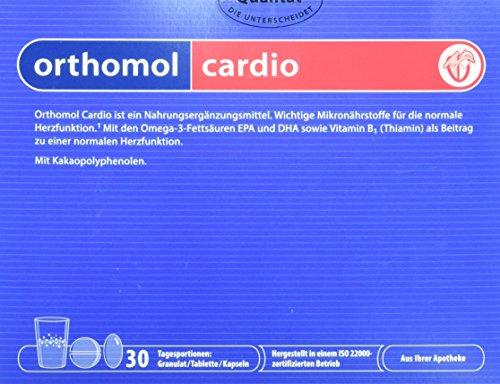 Orthomol cardio 30er Granulat, Tabletten & Kapseln - Nahrungsergänzung zur Unterstützung vom Herz Kreislauf System