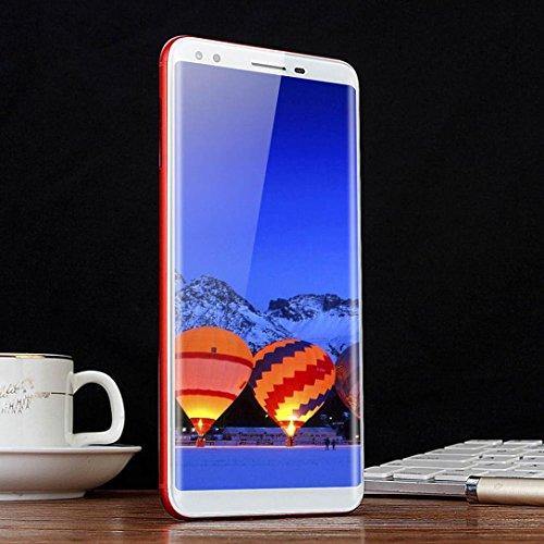 , R15 Fingerabdruck entsperrt - Android 7.0 5.5 Zoll schlank MKT6580 Quad-Core 2G + 16G 3G/GSM WiFi Dual SIM 2800mAh Smartphone, Nachteil: Perfekt (rot) (Handy Entsperrt Sim)