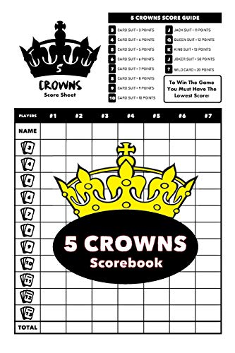5 Crowns Scorebook: 6 x 9 inches - 100 Personal Score Pads