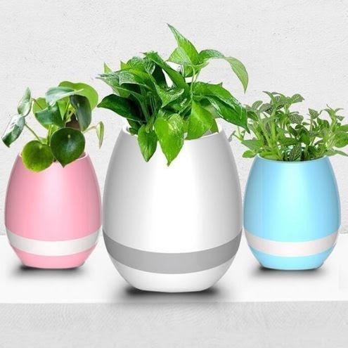 Samsung Galaxy A9 Pro Compatible Wireless Bluetooth Speaker Music Flower Plant Pot...