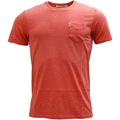 Ben Sherman Herren T-Shirt MB12340 Korallenrot