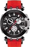 Tissot Herren-Armbanduhr Analog Quarz One Size, schwarz, rot