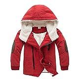 Kleider Kinderbekleidung Honestyi Kinderjacken Jungen Mit Kapuze Mit Pelzoberbekleidung Warme Winterjacke Kleidung (Orange,140)