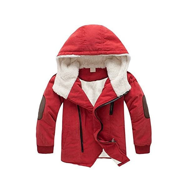 Logobeing Abrigo Niños 3-9 Años, Bebé Niño Chaquetas de Niños Chicos con Capucha y Prendas de Vestir Exteriores de Piel… 1