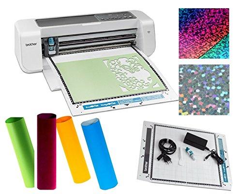 Brother DC100 Schneideplotter Set mit 6 Textilveredlungsfolien Flock,Flex,Iris a 50x25 cm