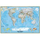 National Geographic Map Classic World Map, Großformat, Planokarte
