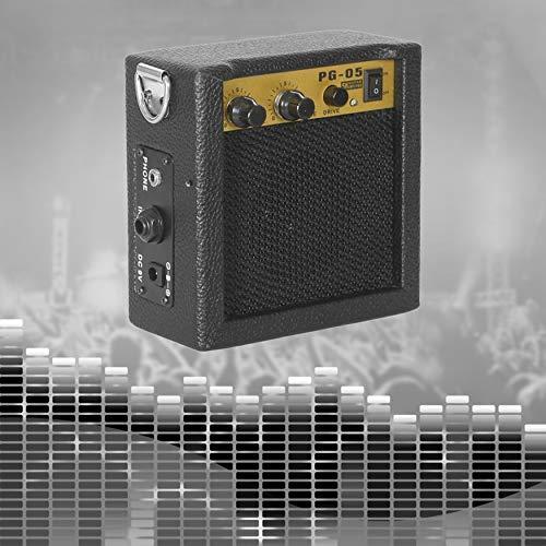 Yaoaomon E-Wave PG-05 5W Tragbarer Gitarrenverstärker Gitarrenverstärker mit 3 Zoll Lautsprecher schwarz