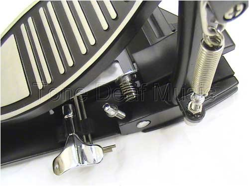 Tone Deaf Music Adjustable Double Bass Drum Pedal - Double chain and solid base plates