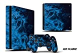 PS4 Slim Console + Controller Skin - Ice...