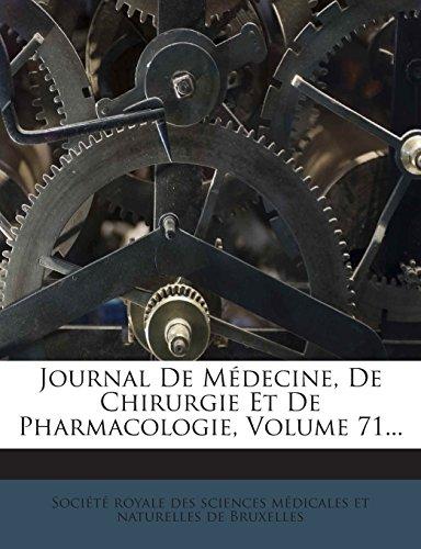 Journal de Medecine, de Chirurgie Et de Pharmacologie, Volume 71...