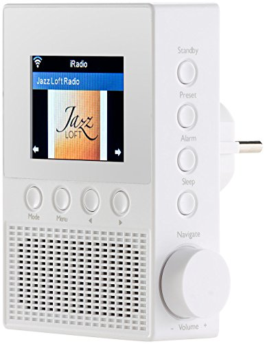 VR-Radio Steckdosenradio: Steckdosen-Internetradio IRS-300 mit WLAN, 6,1-cm-Display, 6 Watt (Steckdosen Radio WLAN)